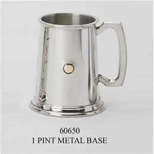1 Pint Pewter Tankard with Brass Inlay - EBP-60650 by Edwin Blyde.