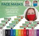 Handmade 100% Cotton Face Masks - Machine washable - 10 Pack
