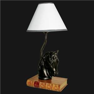 Horse Lamp on a faux book - with shade