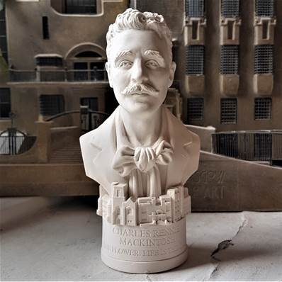 busts of famous British historical figures hand made in gypsum plaster