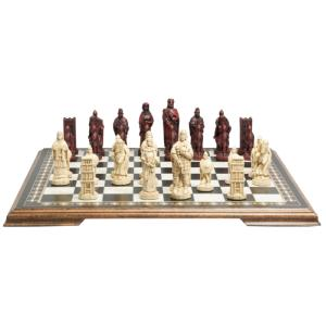 "Battle of Hastings 4.5"" King Size Chess Set"