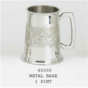 1 Pint Pewter Tankard with Serpent Design Band - EBP-60300 by Edwin Blyde.