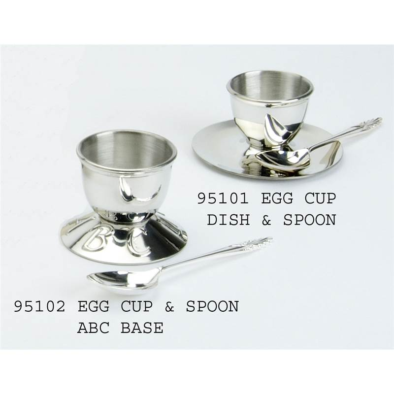 Pewter Saucer Egg Cup Amp Spoon Ebp 95101 By Edwin Blyde