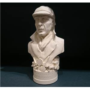 Sherlock Holmes - Miniature Bust 13.1cm - Hand crafted in Gypsum Plaster in the UK