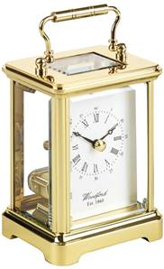 Obis Solid Brass Carriage Clock with Skeleton Quartz Movement