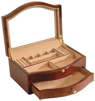 Woodford Rosewood Veneered Jewellery Box with Piano Finish