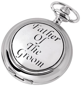 Woodford Full Hunter Chrome/Pewter Father of the Groom Pocket Watch 1886
