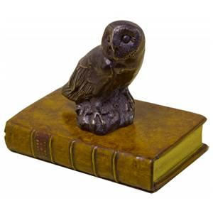 Owl Sitting on a Faux Book Paperwight