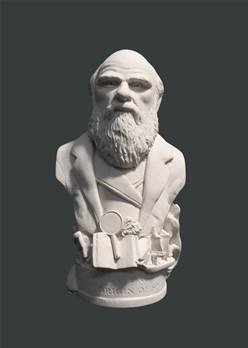 Bust of Charles Darwin - Hand crafted in Gypsum Plaster in the UK