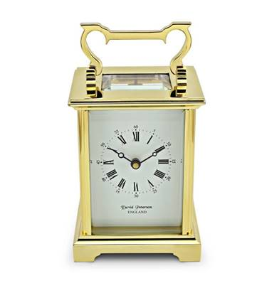 Carriage Clock Anglais Style Brass with Bell Strike Movement - DP/AG/SK