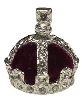 Queen Victoria's Crown - 28007 - Miniature Replica Crown with Crystals on Silver Plated Body