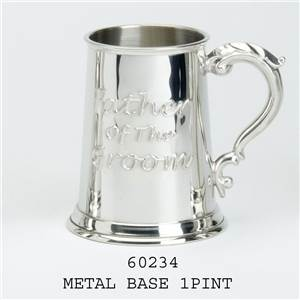 1 Pint Pewter Tankard with Father of the Groom - EBP-60234 by Edwin Blyde.