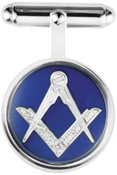 Round Sterling Silver Masonic Cufflinks