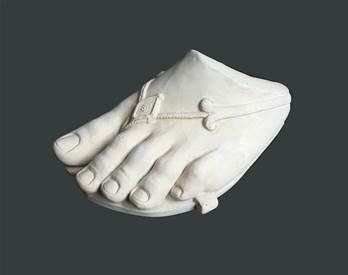 Classical Foot Model - Hand crafted in Gypsum Plaster in the UK
