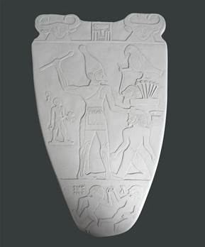 Palette Of Narmer Plaque - Hand crafted in Gypsum Plaster in the UK