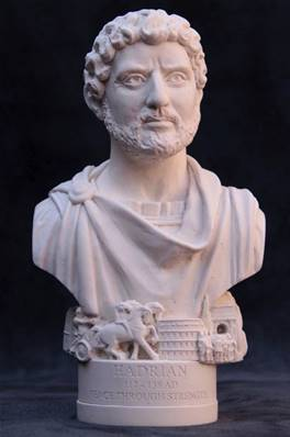 Bust of Roman Emperor Hadrian - Hand crafted in Gypsum