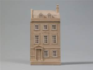 Jane Austen's House, Bath, England - Model of the House Facade