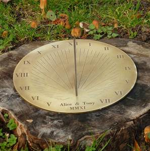 Galileo Sundial from Border Sundials - 8 inch diameter