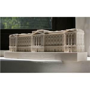 Buckingham Palace - Detailed model in Gypsum Plaster Handmade in the UK