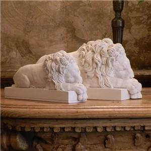Canova Lions: Sleeping - Hand crafted in Gypsum Plaster in the UK