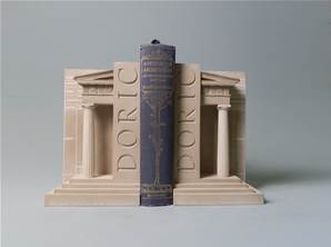 Doric Pillars - Bookends Hand Made in Gypsum Plaster