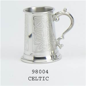 Pewter Child's Classic Can with Celtic Design - EBP-98004 by Edwin Blyde.
