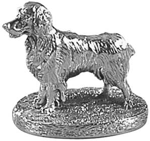 Spaniel Standing Cast in Sterling Silver - HBH-8174