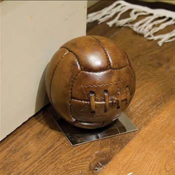 Old-fashioned Football on Base Doorstop