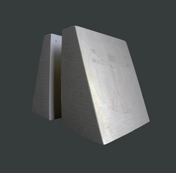 Proportions of Man Bookend (Single) - Hand crafted in Gypsum Plaster in the UK