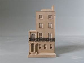 Oscar Wilde's House, Dublin, Irelane - Model of the House Facade