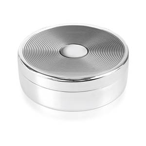 Enamel Trinket Box - Silver Grey