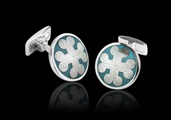 Cross - Blue Enamel Cufflinks