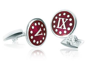 Nine till Five - Red Enamel Cufflinks