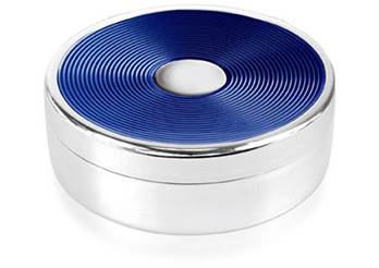 Enamel Trinket Box - Navy Blue