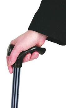 Adjustable Anatomical Walking Stick - 28.5to 37.5inches - Black,Left Handed