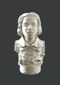 Bust of Christopher Marlowe - Hand crafted in Gypsum Plaster in the UK