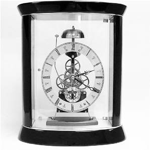 Passing Strike Oval Skeleton Mantel Clock Chrome Plated SKC12/S