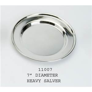 Heavy Pewter Plate 177mm Diameter - EBP-11007 by Edwin Blyde.