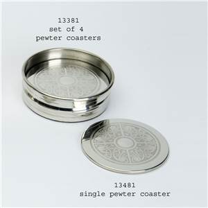 4 x Pewter Coasters on a Stand Celtic Pattern - EBP-13381 by Edwin Blyde.