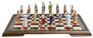 "Roman 4"" King Size Chess Set Hand-painted"