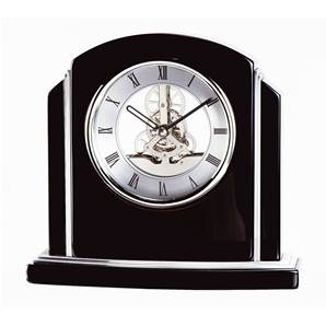 Art Deco Skeleton Mantel Clock by David Peterson SKC15