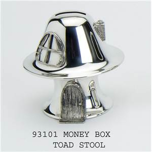 Pewter Money Box in Toadstool Design - EBP-93101 by Edwin Blyde.