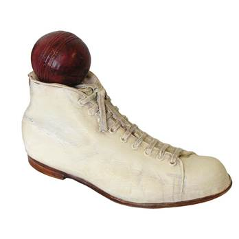 Old-fashioned Cricket Boot and Ball Door Stop