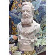 William Morris - Miniature Bust - Hand crafted in Gypsum Plaster in the UK