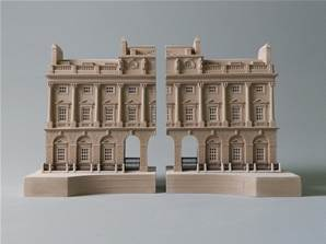 Somerset House, London - Model od the Facade of the Building Split into Bookends