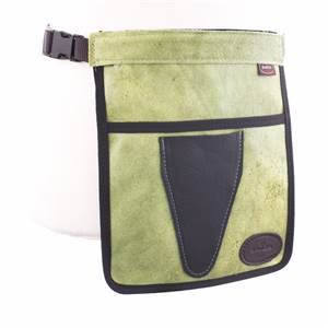 Leather Florist Apron by Bradleys in Pink or Green with Secateurs Pouch