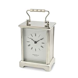 Obis Style Chrome Plated Brass Carriage Clock - Q-OB-S