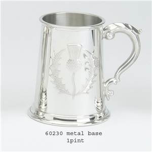 1 Pint Pewter Tankard with Thistle Design - EBP-60230 by Edwin Blyde.