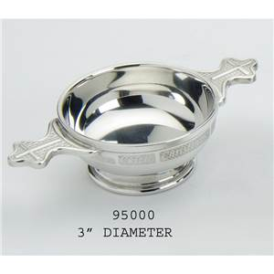 Christening Quaich in Pewter - EBP-95000 by Edwin Blyde.