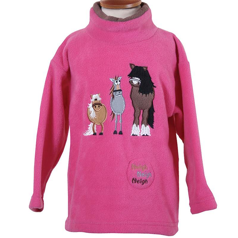 Dozy Mares sound effect fleece tunic with Sound Effect - Cerise - 4-5 years